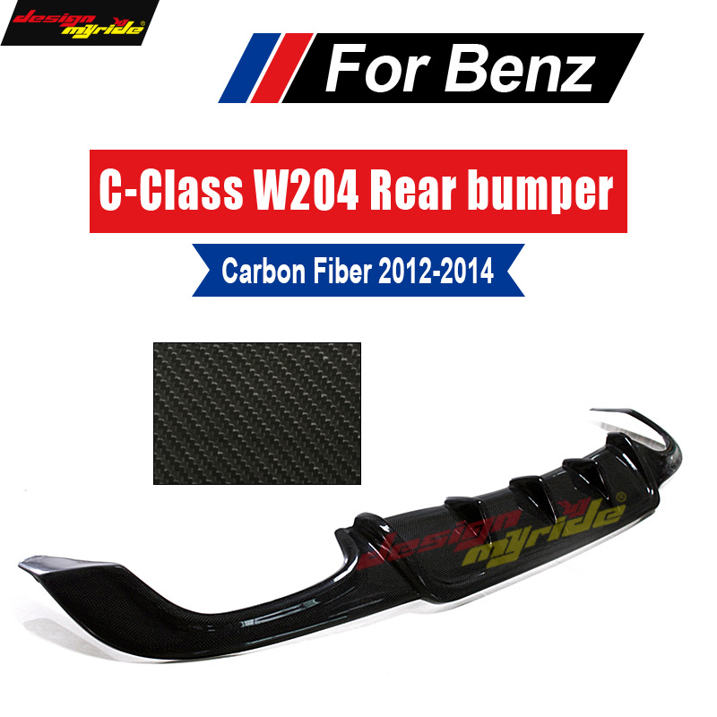 W204 Rear Bumper Diffuser lip Carbon Fiber For Mercedes Benz W204 C63 AMG&C300 Sport Sedan C180 C280 C350 Posterior lip 2012-14