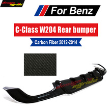 W204 Rear Bumper Diffuser lip Carbon Fiber For Mercedes Benz C63 AMG&C300 Sport Sedan C180 C280 C350 Posterior 2012-14