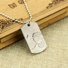 One Piece Skull Dog Tag