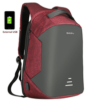 Anti Theft Of Canvas Men Backpack Bag USB Charging 15inch Laptop Notebook Backpack For Men Waterproof