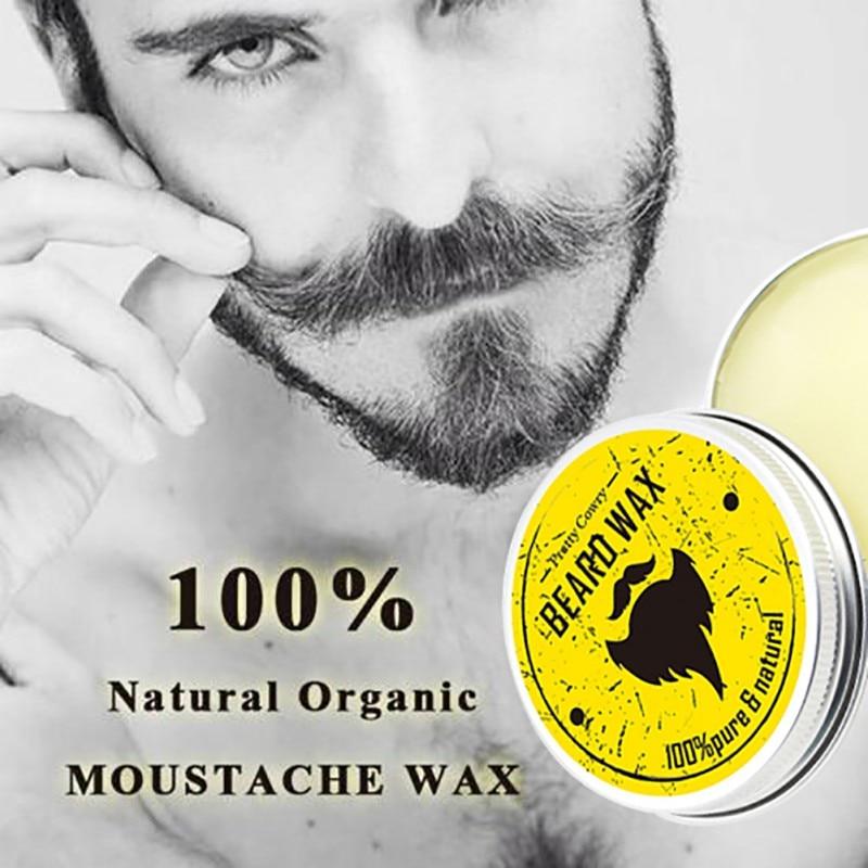 Men Beard Oil Balm Moustache Wax for styling Beeswax Moisturizing Smoothing Gentlemen Beard Care 2