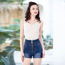 Denim Shorts For Women 2019 Summer New Brand Trendy Slim Casual Plus Size Womens High Waist Shorts mom jeans
