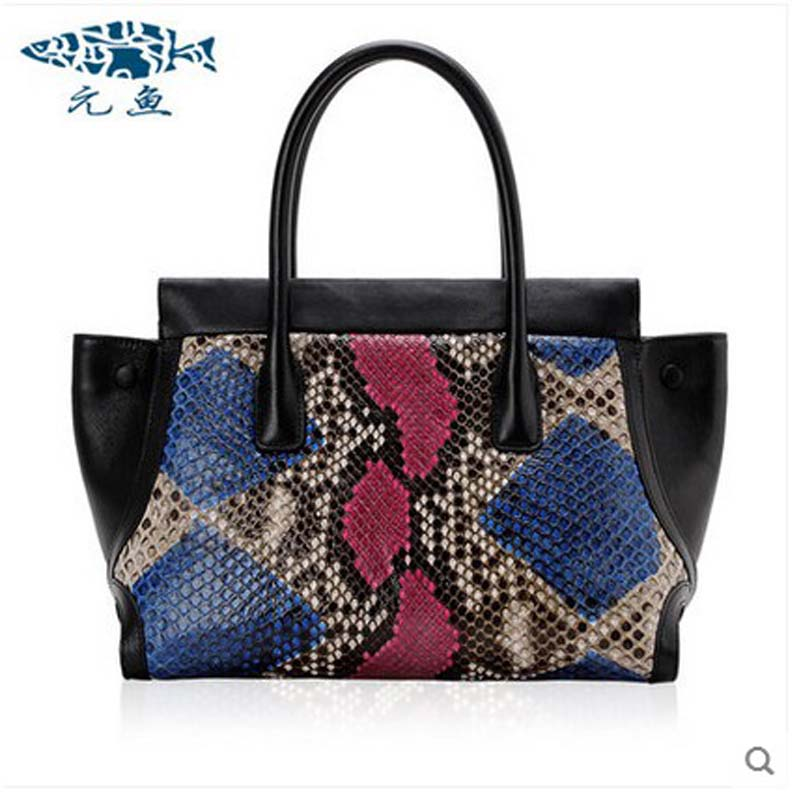 yuanyu 2018 new hot free shipping python leather women handbag  wings bag women bag snake skin grain wrist bag ladies handbag yuanyu 2018 new hot free shipping crocodile women handbag wrist bag big vintga high end single shoulder bags luxury women bag