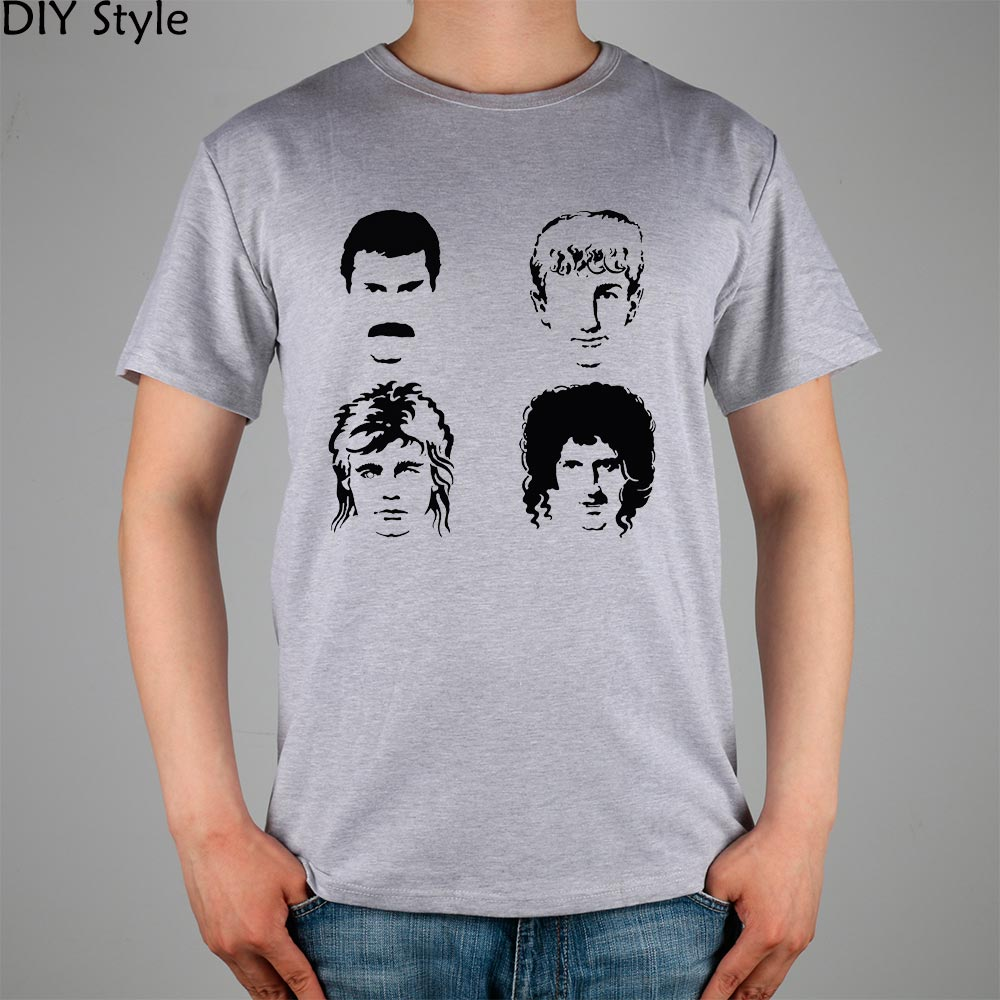Queen Band Members Band T Shirt Cotton Lycra Top 2990