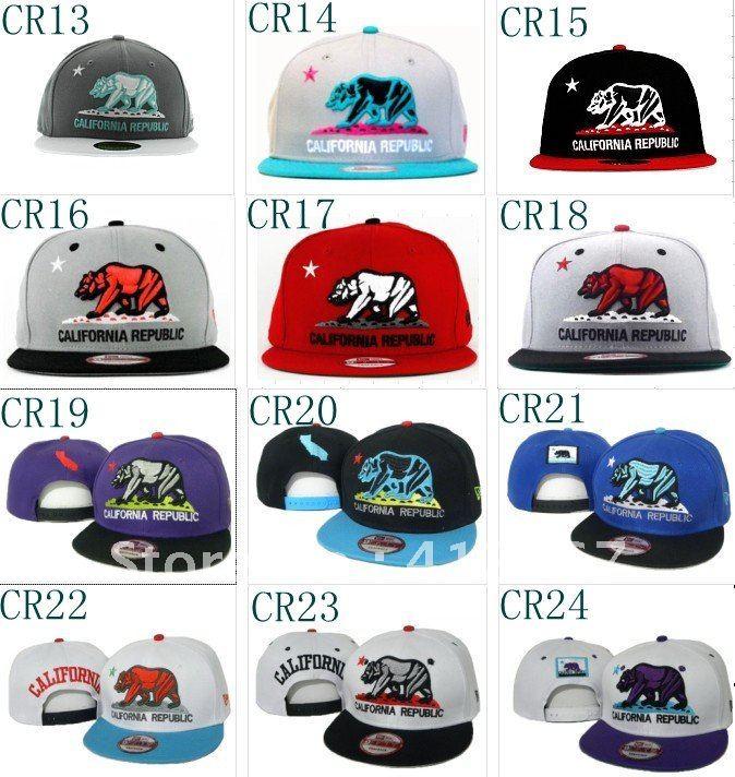top qualitry +California Republic Collection YMCMB snapback caps Snapbacks  camp Hats adjustable caps sports hat  cap MIX PLACE b5bba8e6b2a