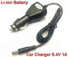 1 pcs 8.4 V 1A אוניברסלי כוח מתאם מטען לרכב 8.4 V 1A עבור 18650 סוללות DC plug