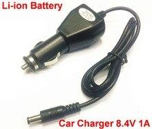 Pcs 8.4 V 1A 1 Universal Power Adapter car Charger 8.4 V 1A para 18650 battery pack DC plug