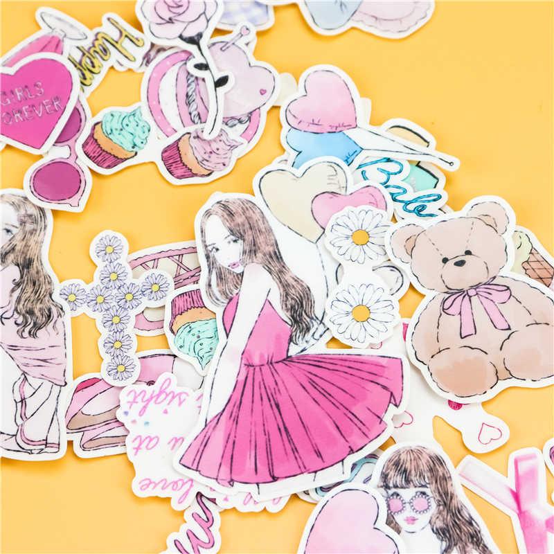 38 piezas creativas kawaii japonesas Mori chicas diario scrapbooking pegatinas/pegatina decorativa/álbumes de fotos artesanales DIY/ los niños