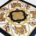 Mujeres 90*90 cm del satén Satén de Seda Imitado Bufandas Del Mantón de la Bufanda Cuadrada de la Alta Calidad 2016 estilo de la moda