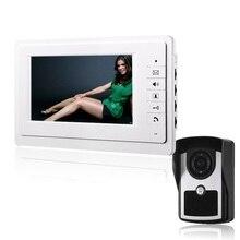 Doorbell intercom 7 Color Video door phone IP55 level Rainproof System Kit IR Camera Doorphone Monitor