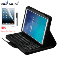 XIN MUM Wireless Bluetooth Keyboard Case for Samsung Galaxy Tab E 9.6 T560 Flip Leather Cover SM T560 Tablet Cases