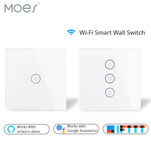 цены Wifi Smart Wall Touch Switch Glass Panel EU Standard APP Remote Control Works with Amazon Alexa Google Home for Smart Home