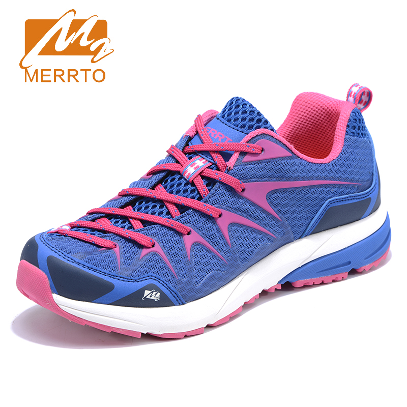 2018 Merrto Womens Light Weight Trail Running Shoes Breathable Outdoor Sports Shoes Travel Shoes For Women Free Shipping MT18658 2018 merrto womens outdoor walking sports shoes breathable non slip travel shoes for women purple rose red free shipping mt18665