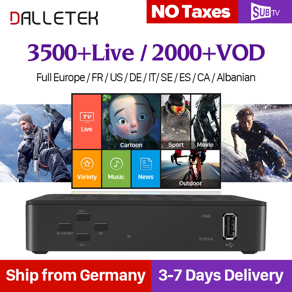 IPTV Arabic French Linux BOX Full HD Iptv subscription with SUBTV Europe Arab H265 Decoding PK MAG 250 254 256 Linux IP TV Box