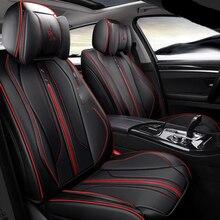 цена на For Mitsubishi Lancer Galant ASX Pajero sport V73 V93 V95 V97 Full Surround Design Cushion Leather Seat Covers For 5 Seats Cars