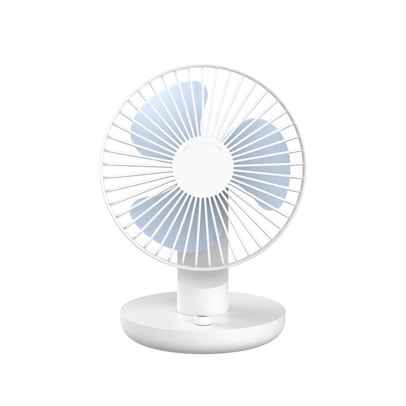Usb Charging Portable Handheld Electric Fan Air Conditioner Cooler Cooling Fan Summer Desk Table Automatic Shaking Head Coolin