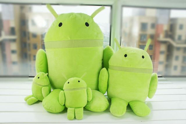 Free Shipping Android Robot Plush Toys Stuffed Dolls Cell Phone Accessories Wholesale