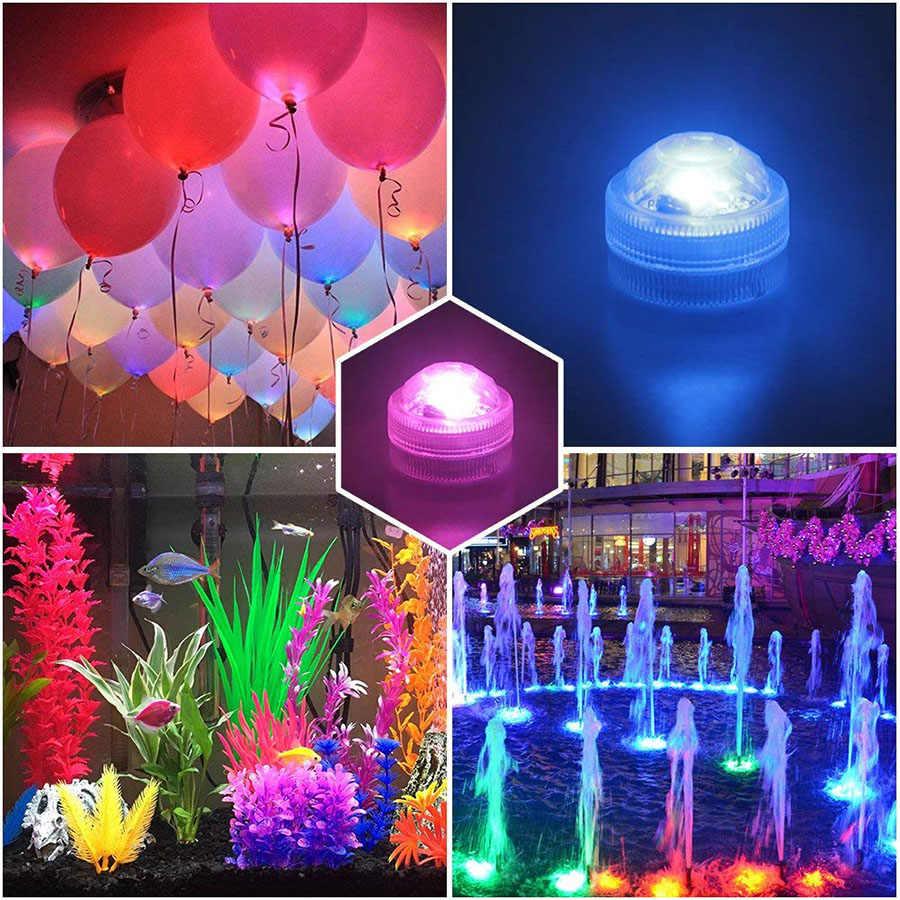 IP68 Pin Không Thấm Nước Hoạt Động Đa Màu Chìm LED Ánh Sáng Dưới Nước cho Fish Tank Pond Bơi Hồ Bơi Wedding Party