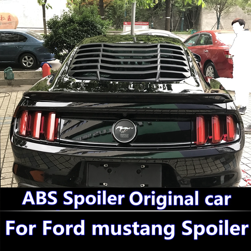 for Ford Mustang spoiler 2015 2016 2017 High hardness and quality ABS material rear trunk wing spoiler for Ford Mustang spoiler цена 2017