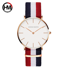 Ladies Watch Luxury Brand Fashion Simple Women Men Quartz Wrist Watches Clocks For Young Boys Girls with Colorful Nylon Relogios