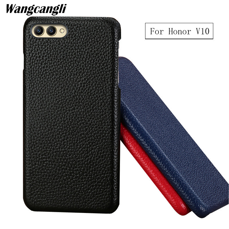 New leather large lychee half-clad For HUAWEI P10 p10 plus P20 pro case Hand-customized business large lychee half-clad