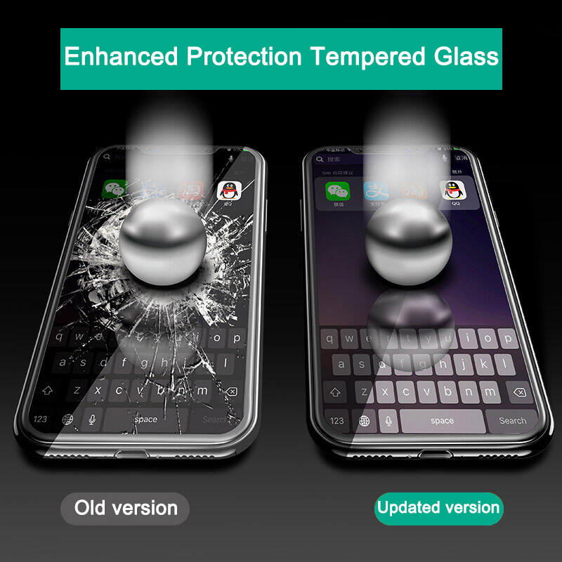 Tomkas 0.2MM Glass For iPhone X Screen Protector Tempered Glass Full Cover Screen Protectors For iPhone X 10 Glass               (6)