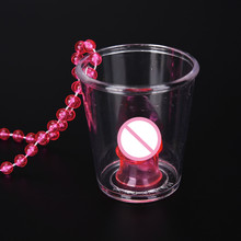 1pcs Hen Night Party Games Shot Glass On Necklace Bachelorette Party Fun Drinking Game Event Party Supplies Decorations electric turntable novelty drinking game adults bachelorette party supply traditional games for camping hiking accessories