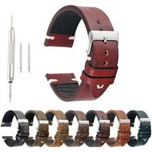 onthelevel Vintage Cow Leather Strap Watch Band Real Genuine Leather Handmade Retro Watch Strap 18mm 20mm 22mm 24mm #C