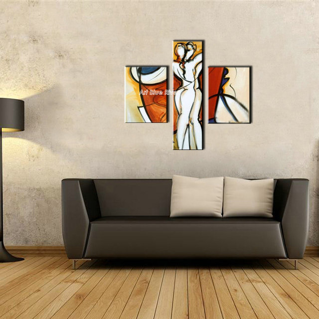 3 Piece Canvas Wall Art Wall Picture Modern Wall Love Hot Sexy Nude Photos  Abstract Adult