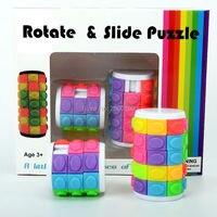2 PZ Mini Bold puzzle Cube Umani Powered Creative Desktop Ruotare & scivolo Giocattoli di Distensione della mano Per Autismo E ADHD Anti Stress