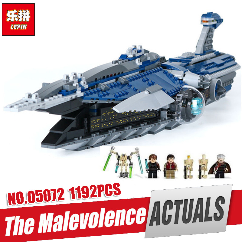 Lepin 05072 Star Plan Series The Limited Edition Malevolence Warship Set Children Building Blocks Bricks Toys Model legoing 9515 in stock 05072 ucs series the limited edition malevolence warship set children building blocks bricks toys compatible 9515