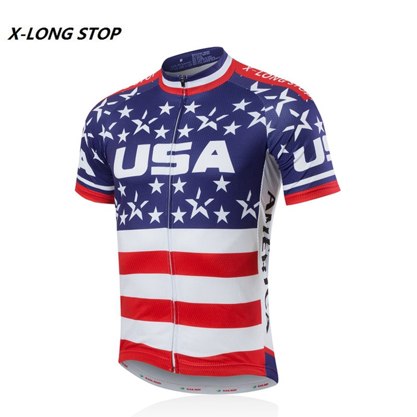 Buy Men 39 S Usa Style Cycling Bike Jersey