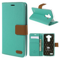 For LG G4 Cover Original ROAR KOREA Twill Card Slots Leather Stand Shell Cover Case For