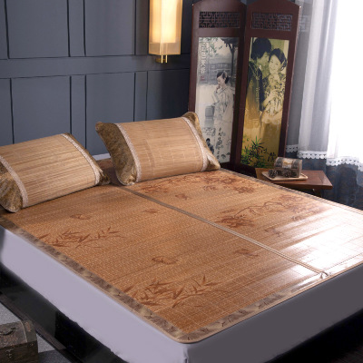 100 natural bamboo mats summer gives you a cool feeling folding wrapping 0 9 1 2
