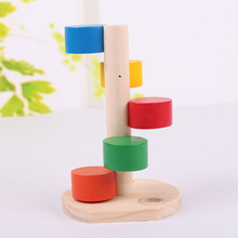 Pet Rat Hamsters Wood Craft Hamster Toys Supplies Jumping Climbing Ladder Seesaw Wooden Scaling Play Toy