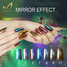 New 2g/bottle Shinning Mirror Nail Glitter Powder Dust Nail Art Sequins Chrome Pigment UV Nails Decorations 7 Colors Optional