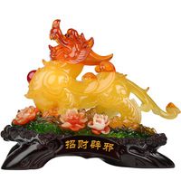 Chinese folk resin gathers ornaments home mascot shop showcase decorations
