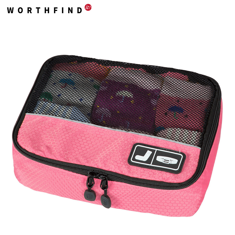 WORTHFIND Travel Bags Waterproof Underware Organizers Travel Bags For Sock Polyester Tra ...