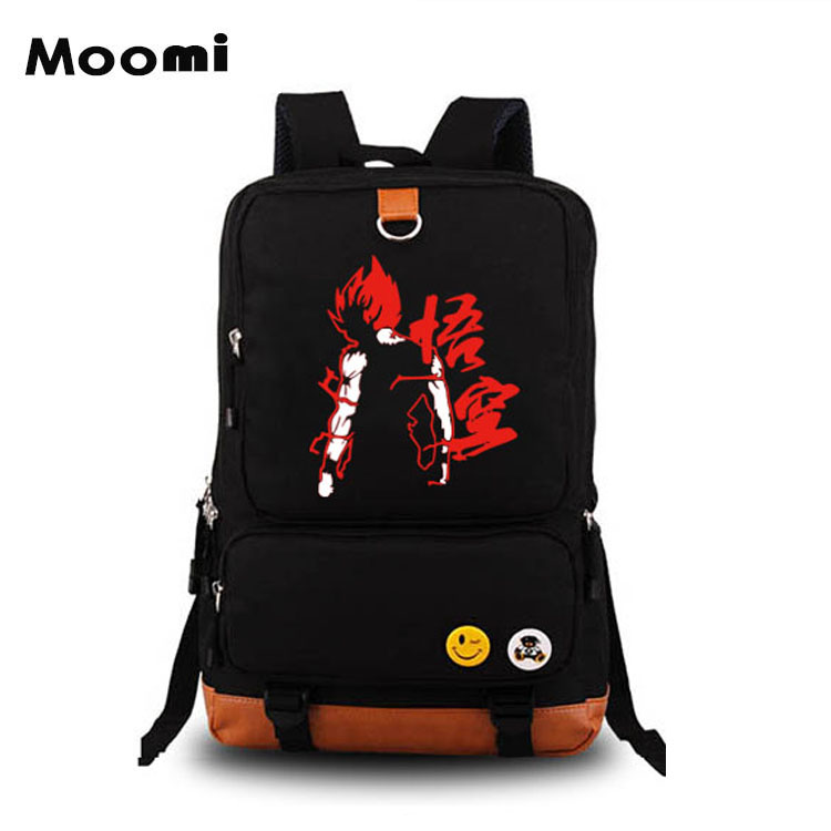 Anime Dragon Ball Cosplay Male and female secondary school student packs cartoon casual canvas backpack birthday gift
