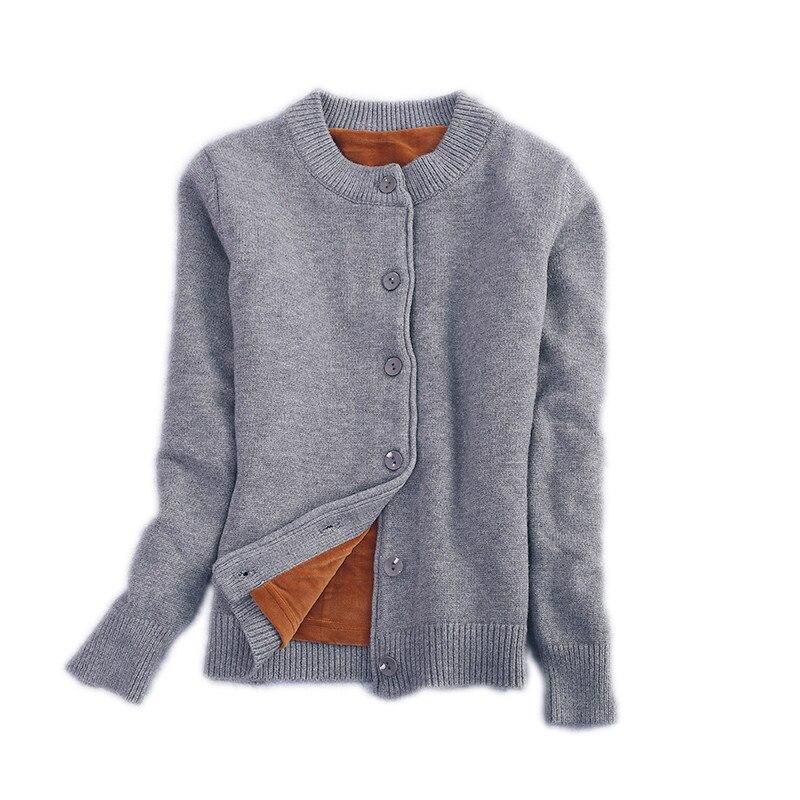 correr zapatos Calidad superior 2020 € 22.49 49% de DESCUENTO|Rebeca de punto de terciopelo de Invierno para  mujer chaqueta de suéter de manga larga suéteres de Jersey cárdigan  caliente ...