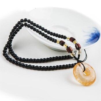 Genuine Natural Titanium Gold Rutilated Quartz Pendant Women Men Powerful Round Crystal Pendant Necklaces 27*27mm