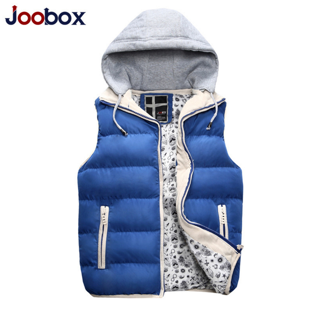 JOOBOX 2017 hot sale winter vest men Warm Man's cotton down jacket Fashion Waistcoat , men vest slim casual waistcoat (MJ05)