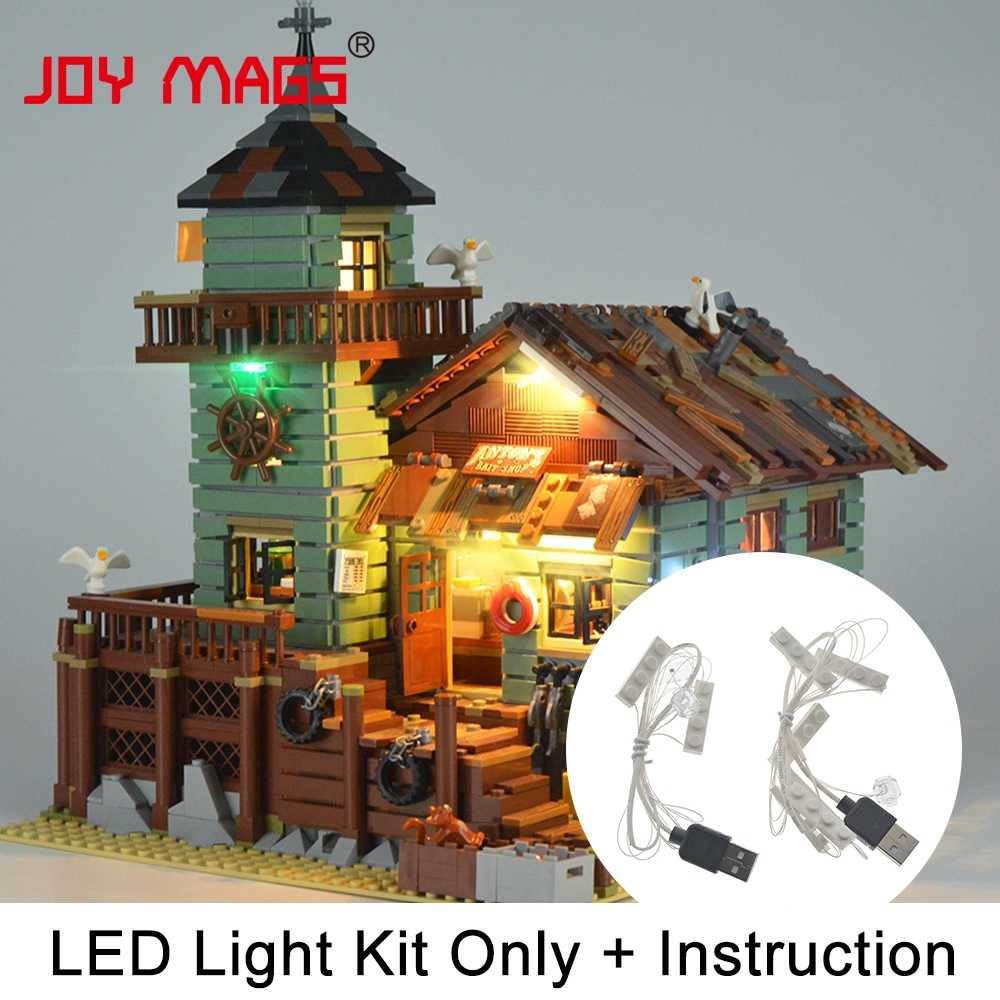 JOY MAGS Led Light Kit (Only Light Set) For Old Fishing Store Block Compatible with Model 21310 Lighting Set