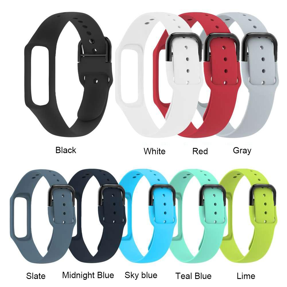 New Arrival Silicone Sport Watchband For Samsung Galaxy Fit-e SM-R375 Smart Bracelet Men Women Replacement Strap Band For R375