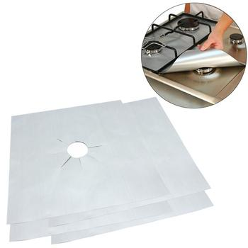 1set Kitchen Gas Hob Liners Gas Range Stove Top Burner Protector Microwave Cover 27 X 27cm Oven Liners Gas Hob Protector Sheets
