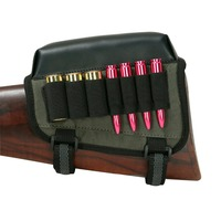 Tourbon Hunting Gun Accessories Rifle Shotgun Buttstock Cheek Rest Pad Riser Cartridges Ammo Holder For Left