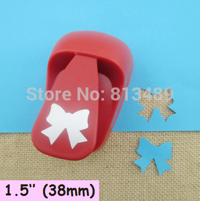 free shipping 38mm Bow paper cutter diy craft punch hole punch shapes perfuradores de papel decorative arts and crafts S3025 diy fondant decorative cutter cake punch set purple