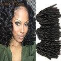 Дешевые Бразильские Волосы 4 Bundle Предложения Тетушка Funmi Упругие Локоны, Жесткие Курчавые Переплетения Spring Queen Hair Расширения Фунми Вьющиеся Волосы