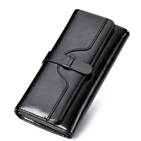 Women Genuine Leather Clutch Elegant Wallet Lady Handbags Famous Evening Bags Oil Waxing Designer Card Holder Bag Coin Purse