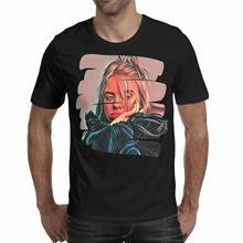 Billie Eilish Logo O Neck You Should See Me In A Crown Black T-Shirt S-3XL T Shirt Fashiont Shirt Free Shipping Top Tee you had me at trombone logo men s sweat shirt